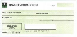 BENIN DAHOMEY 1980 RARE CHEQUE CHECK ASSEGNO SCHECK BANK OF AFRICA COTONOU - Benin