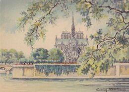 BARRE DAYEZ 2302 O  Le Square De L'Archevêché Et Notre Dame ( Scan Recto-verso ) - Sonstige