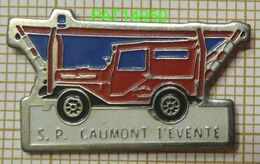 SAPEURS POMPIERS   CAUMONT L' EVENTE  Dpt 14 CALVADOS   4x4 JEEP LAND ROVER ..... - Firemen