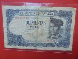 ESPAGNE 500 PESETAS 1971 Circuler - [ 3] 1936-1975 : Regime Di Franco