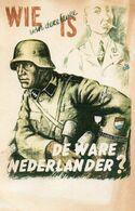 DC581 - WW2 Germany Propaganda Deutschland 2. Weltkrieg - SS Soldat Uniform Helm De Ware Nederlander REPRO - War 1939-45