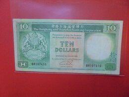 HONG-KONG 10$ 1989 Circuler - Hongkong