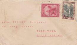 Belgian Congo, 1942 Cover 2f50 > S.Africa - Congo Belge