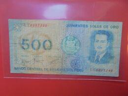 PEROU 500 SOLES 1976 Circuler - Peru