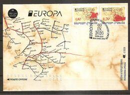 BOSNIA AND HERZEGOVINA  2020,SERBIA BOSNIA,EUROPA CEPT,ANCIENT POSTAL ROUTES,BOOKLET,FDC - Bosnia Herzegovina