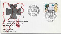 3553  Carta Barcelona  1975, Ll Congreso Internacional De Historia De La Medicina Catalana - 1931-Aujourd'hui: II. République - ....Juan Carlos I