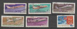 Russie   1965  Aérien  N° 118 à 123  Oblitéré  .6 Valeurs - 1923-1991 UdSSR