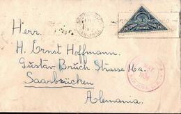 !  Cover 1938 San Jose, Costa Rica Nach Saarbrücken,  Devisenüberwachung Zollamtlich Geöffnet - Costa Rica