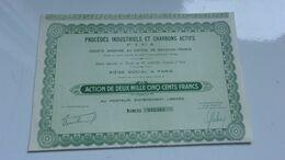 Procédés Industriels Et Charbons Actifs (capital 109 Millions) - Actions & Titres