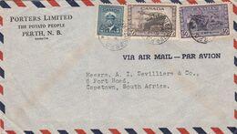 POERTHOUSE / Porters Ltd, The Potato People, Cover, 75c, ST JOHN & ED.STN R.P.O. SP 13 44 C.d.s. > S.Africa, - 1937-1952 Regno Di George VI
