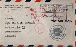 ! Meter Cancel Cover 1941, Costa Rica Nach Frankfurt A.M.,  Zensur, Censure, Censor - Costa Rica