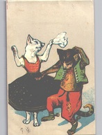 Dressed Cats Unsigned LOUIS WAIN Sent 1907 W Interesting Danish Postmark VTOFTE - Wagner, Richard
