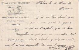 """1907  Mohon - Charleville   """" Florent Bléret  Marchand De Chevaux Pour Entreprise Moreau à Dom Le Mesnil ! - Charleville"""