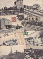 Lot 2536 De 10 CPA Chemin De Fer Gare Déstockage Pour Revendeurs Ou Collectionneurs - 5 - 99 Postkaarten