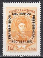 Argentina, 1973 - 1,20p Gen. Jase De San Martin, Overprinted - Nr.1010 MNH** - Argentina