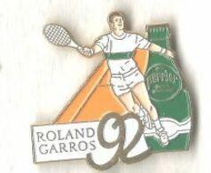 Tennis Joueur Roland Garros 92 Sponsor Perrier - Tennis