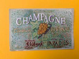 15888 - Champagne Oudinot Réserve Wirtschaft Flühgass Zürich & Hôtel Paradies Ftan - Champagne