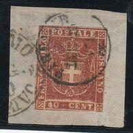 Toscana - Obliterato -  40 Cent. N. 21    F. Merone - Toskana