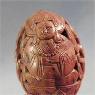 ~ NOIX SCULPEE - Sculpture Asie - Art Asiatique