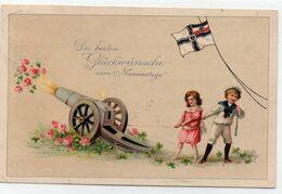 "DC1226 - Motiv ""Glückwunsch Zum Namenstag"" Militaria Propaganda Kanone - Militaria"