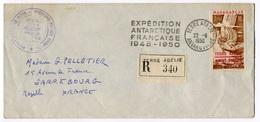 RC 18519 TAAF 1950 LETTRE EXPEDITION ANTARCTIQUE FRANÇAISE 22/6/1950 MISSIONS PAUL EMILE VICTOR TB - Terres Australes Et Antarctiques Françaises (TAAF)