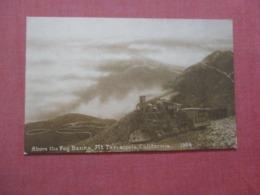 Train Above The Fog Banks Mt. Tamaipais Calif  Ref  4359 - Treinen