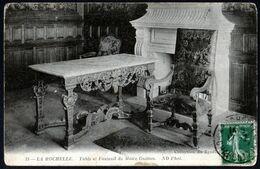 La Rochelle Table Et Fauteuil Du Maire Guitton Circulé 17 07 1911 Semeuse 5 C Vert V. Explic - La Rochelle