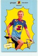 Denis ROUX , Autographe Manuscrit, Dédicace (au Dos). 2 Scans. Cyclisme. Groupe Z Peugeot 1987 - Wielrennen