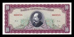 Chile 10 Escudos 1962 - 1975 Pick 139a Sign 3 SC- AU/UNC - Cile