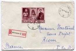 RC 18521 BELGIQUE 1940 N° 518 SEUL SUR LETTRE RECOMMANDÉE POUR LA FRANCE TB - Belgium