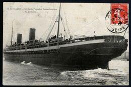 Le Havre Sortie Du Paquebot Transatlantique La Lorraine Bateau Cachet 06 08 1908 Belle Carte V. Explications - Paquebote