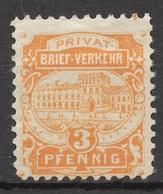Privat-Stadt-Post Freiburg (Breisgau) B 3 (*) - Privé