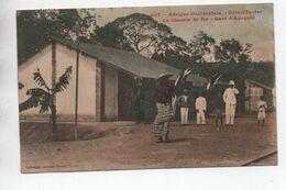 GARE D'AZAGUIE (COTE D'IVOIRE) - LE CHEMIN DE FER - Ivoorkust