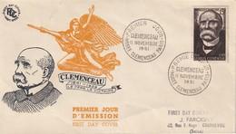 FRANCE - Clémenceau FDC - 1950-1959