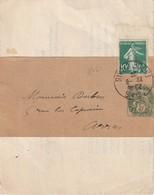 FRANCE - 10 C. Semeuse + Bande Journal 5 C. Blanc Arras Du 22/6/28 - 1921-1960: Modern Tijdperk