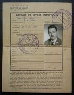 De Gaulle Olivier Extrait Du Livret Individuel G.U.T A6 Alger Compagnie Territoriale 154 Cachet Du Capitaine Commandant. - Documents