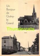 CPA UN BONJOUR DE QUEVY LE GRAND - Quévy