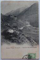 Ligne Viège Zermatt. - Chaîne Des Mischabel - CPA 1905 Voir état - VS Valais