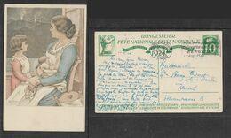Switzerland, BUNDESFEIER, 10c, Postcard,   BERN 1 3. IX 1924 + Slogan > Zurich - Interi Postali