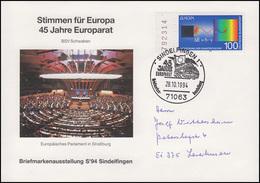 45 Jahre Europarat - Stimmen Für Europa EF Bf SSt Sindelfigen Europarat 28.10.94 - Europa-CEPT