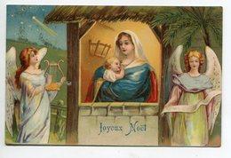 ANGES 112 Joyeux Noel Anges Entourant La Creche Marie Et Petit Jésus  Edit Kf Série 731  - Timb 1907 - Engelen