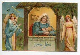 ANGES 110 Joyeux Noel Anges Entourant La Creche Marie Et Petit Jésus  Edit Kf Série 731  - Timb 1907 - Engelen