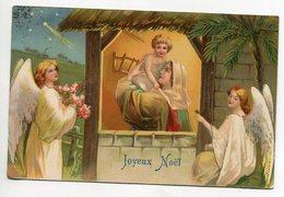 ANGES 132 Joyeux Noel Anges Entourant La Creche Marie Et Petit Jésus  Edit Kf Série 731  - Timb 1907 - Engelen