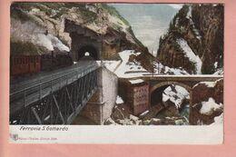 OUDE POSTKAART - ZWITSERLAND - TICINO -     TRENO - TREIN - FERROVIA GOTTARDO - 1900'S - TI Tessin