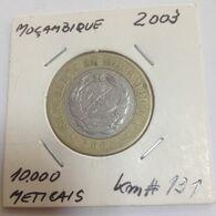 Mozambique , 2003 , Used Coin , 10000 Meticais , Bimetallic - Mozambique