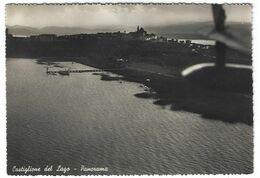 7246 - CASTIGLIONE DEL LAGO PERUGIA PANORAMA VISTO DALL' AEREO 1952 - Italy