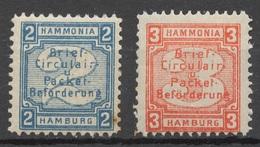 Privat-Stadt-Post Hamburg E 42-43 * - Private