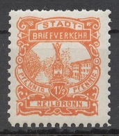 Privat-Stadt-Post Heilbronn 5 * - Privé