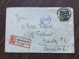 SCH2105 Dänemark 1921 R-Brief Von Kopenhagen Nach Gleiwitz - 1913-47 (Christian X)