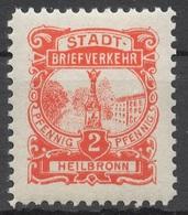 Privat-Stadt-Post Heilbronn 8 * - Privé